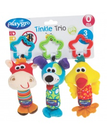 Playgro - Cestovní závěsné hračky 3ks | learningtoys.cz