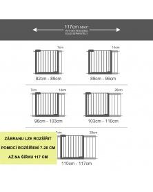 Lindam - Roz. dětské zábrany SS a Easy fit 28 cm-b | learningtoys.cz