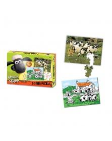 Shaun the Sheep - Oboustranné puzzle s pastelkami 50ks | learningtoys.cz