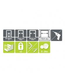 LINDAM - Dětská zábrana Easy Fit Plus Deluxe TALL   learningtoys.cz
