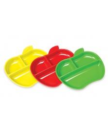 Munchkin - Set barevných dělených talířů ve tvaru jablka 3ks | learningtoys.cz