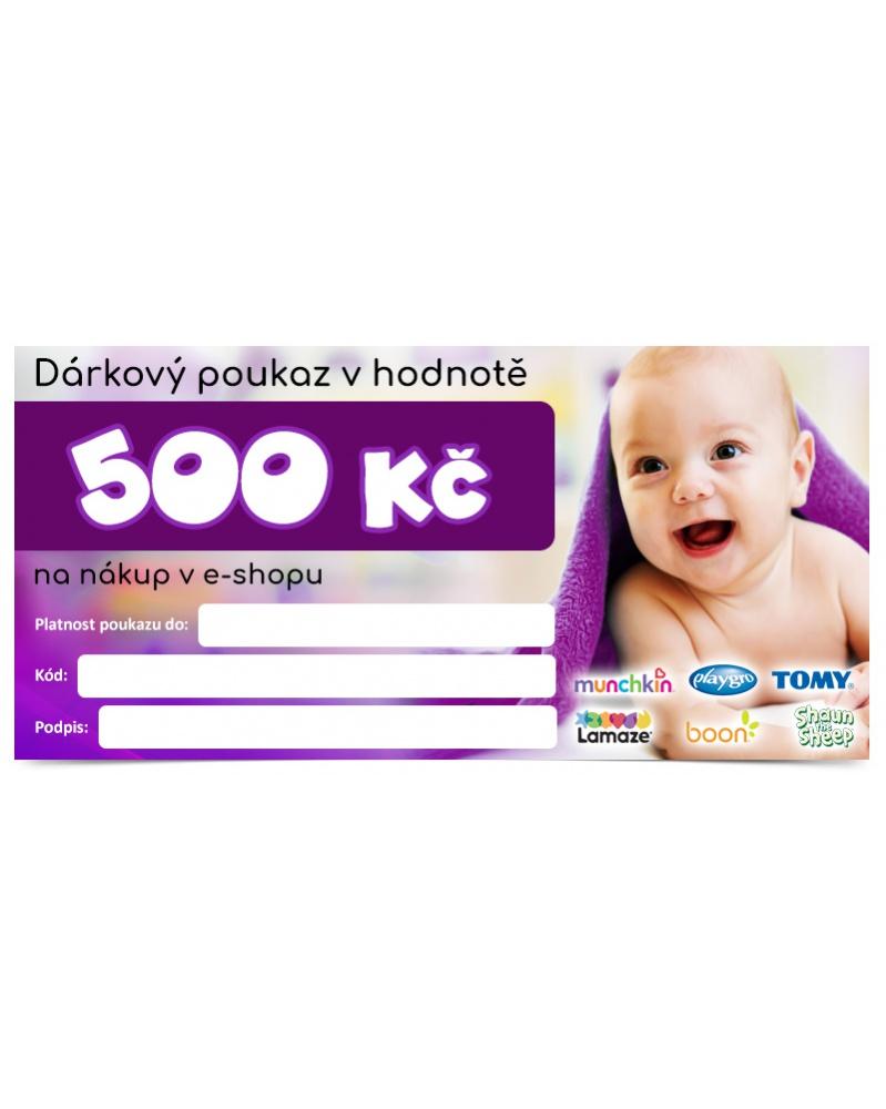 Dárkový šek v hodnotě 500 Kč   learningtoys.cz