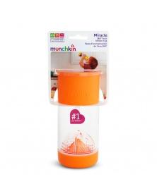 Munchkin - Netekoucí hrnek s infuzérem 414 ml - oranžový | learningtoys.cz