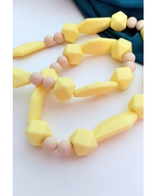 MIMIKOI - Kojící korále hravé tvary žluté | learningtoys.cz