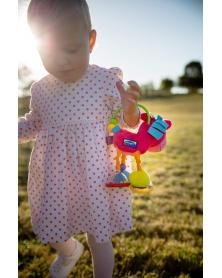 Playgro - Chrastítko oslík růžový | learningtoys.cz