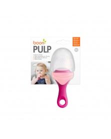 Boon - PULP - Silikonové krmítko růžové | learningtoys.cz