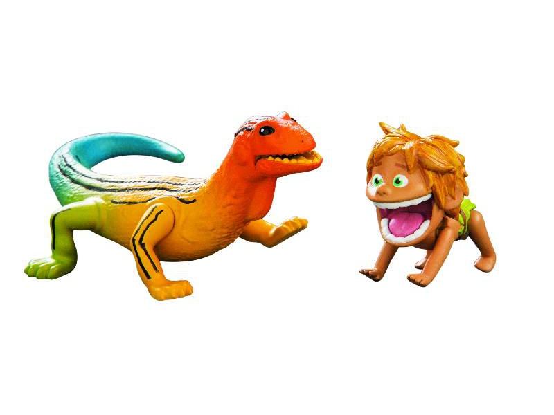 Hodný Dinosaurus - Špunt & Ještěr - plastové postavičky malé