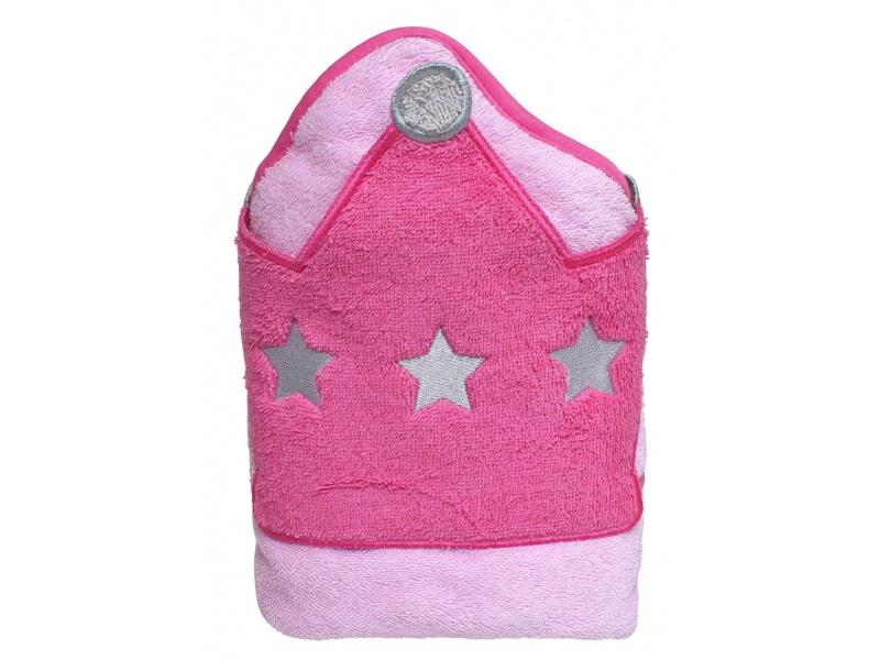 Playgro - Dětská osuška s kapucí růžová