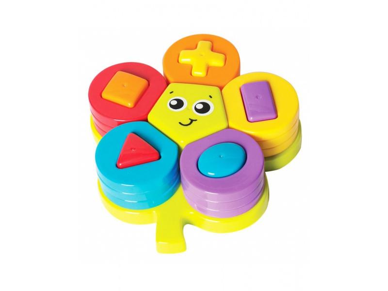 Playgro - Skládací puzzle květina s tvary - poškozený obal