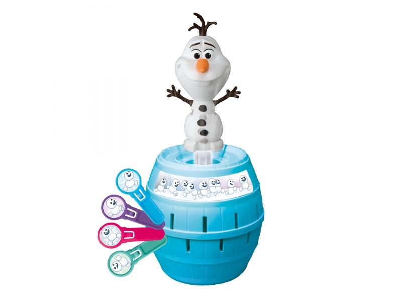 TOMY - Disney Frozen společenská hra Vyskakovací Olaf