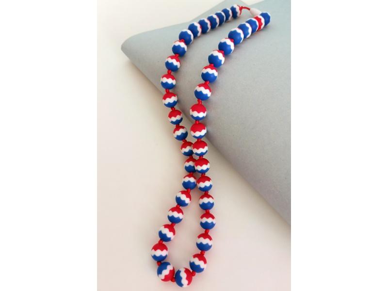 MIMIKOI - Kojící korále barevné kuličky trikolora