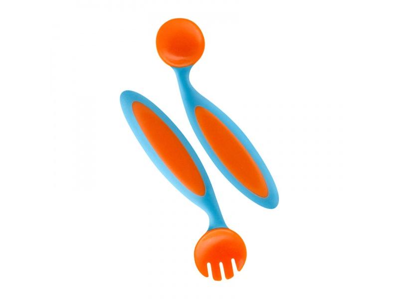 Boon - Ohýbací dětský příbor - oranžová/modrá