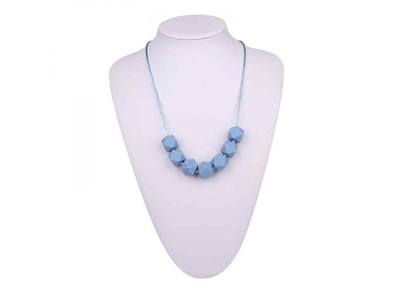 MIMIKOI - Kojící korále veselé kamínky světle modré