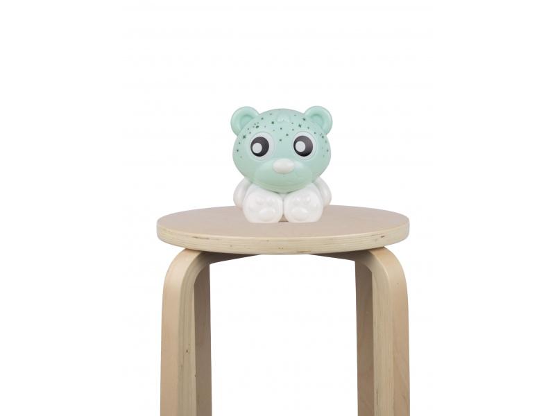 Playgro - Usínací lampička medvídek s projektorem - zeleno-bílý