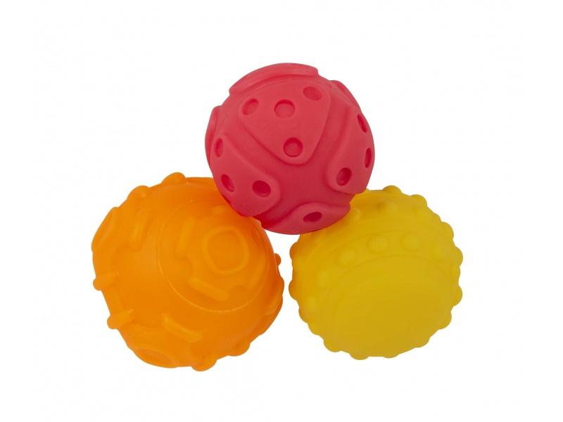 Playgro - Strukturované míčky pro rozvoj motoriky 3ks
